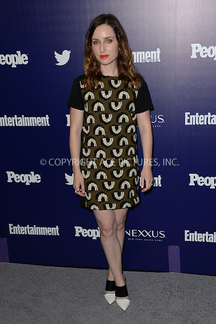 WWW.ACEPIXS.COM<br /> May 11, 2015 New York City<br /> <br /> Zoe Lister-Jones attending the Entertainment Weekly and People celebration of The New York Upfronts at The Highline Hotel onMay 11, 2015 in New York City.<br /> <br /> Please byline: Kristin Callahan/AcePictures<br /> <br /> Tel: (646) 769 0430<br /> e-mail: info@acepixs.com<br /> web: http://www.acepixs.com