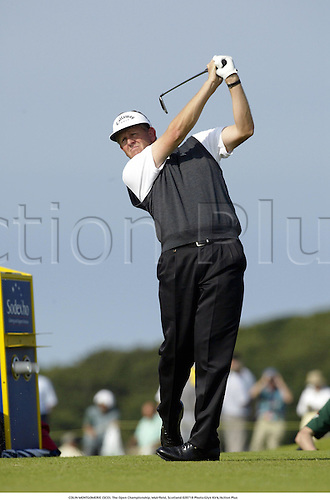 COLIN MONTGOMERIE (SCO). The Open Championship, Muirfield, Scotland 020718 Photo:Glyn Kirk/Action Plus...Golf.2002.