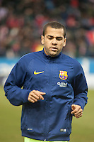Barcelona´s Daniel Alves during 2014-15 Spanish King Cup match between Atletico de Madrid and Barcelona at Vicente Calderon stadium in Madrid, Spain. January 28, 2015. (ALTERPHOTOS/Luis Fernandez) /nortephoto.com<br />