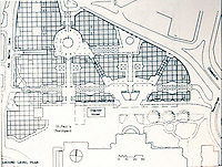 London: Paternoster Square--MacCormac & Wright. Ground level plan--ARCH. REVIEW, JAN. '88