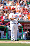5 September 2005: Livan Hernandez, All-Star pitcher for the Washington Nationals, at bat during a game against the Florida Marlins. The Nationals defeated the Marlins 5-2 at RFK Stadium in Washington, DC, maintaining a close race for the NL Wildcard spot. Mandatory Photo Credit: Ed Wolfstein.