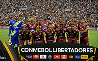 IBAGUE - COLOMBIA, 19-02-2020: Jugadores del Tolima posan para una foto previo al partido por la fase 3 ida de la Copa CONMEBOL Libertadores 2020 entre Deportes Tolima de Colombia y SC Internacional de Brasil jugado en el estadio Manuel Murillo Toro de la ciudad de Ibagué. / Players of Tolima pose to a photo prior match for the phase 3 first leg as part of Copa CONMEBOL Libertadores 2020 between Deportes Tolima of Colombia and SC Internacional of Brazil played at Manuel Murillo Toro stadium in Ibague. Photo: VizzorImage / Cristian Alvarez / Cont