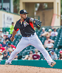 10 March 2015: Miami Marlins pitcher A.J. Ramos on the mound during Spring Training action against the Washington Nationals at Roger Dean Stadium in Jupiter, Florida. The Marlins edged out the Nationals 2-1 on a walk-off solo home run in the 9th inning of Grapefruit League play. Mandatory Credit: Ed Wolfstein Photo *** RAW (NEF) Image File Available ***
