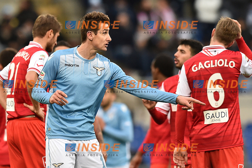 Miroslav Klose Lazio.<br /> Roma 6-01-2016 Stadio Olimpico, Football Calcio 2015/2016 Serie A Lazio - Carpi. Foto Antonietta Baldassarre / Insidefoto