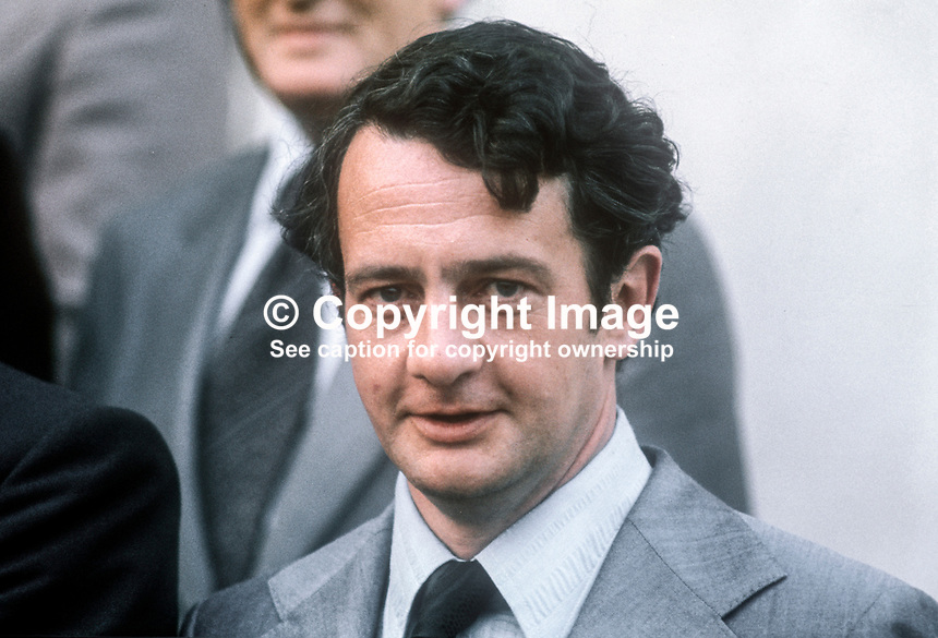 Desmond O&rsquo;Malley, aka Des O&rsquo;Malley, Industry &amp; Commerce Minister, Rep of Ireland, July, 1978, 1978070086<br /><br />Copyright Image from Victor Patterson, 54 Dorchester Park, <br />Belfast, UK, BT9 6RJ<br /><br />t1: +44 28 9066 1296 (from Rep of Ireland 048 9066 1296)<br />t2: +44 28 9002 2446 (from Rep of Ireland 048 9002 2446)<br />m: +44 7802 353836<br /><br />victorpatterson@me.com<br />www.victorpatterson.com<br /><br />Please see my Terms and Conditions of Use at VICTORPATTERSON.COM. It is IMPORTANT that you familiarise yourself with them.<br /><br />Images used on the Internet must be visibly watermarked i.e. &copy;VICTORPATTERSON.COM within the body of the image and copyright metadata must not be deleted. Images used on the Internet have a size restriction of 4kbs and are chargeable at the then current NUJ rates.<br /><br />This image is only available for the use of the download recipient i.e. television station, newspaper, magazine, book publisher, etc, and must not be passed on to any third party. It is also downloaded on condition that each and every usage is notified within 7 days to victorpatterson@me.com<br /><br />The right of Victor Patterson to be identified as the author is asserted in accordance with The Copyright Designs And Patents Act (1988).