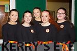 Austin Stacks ballad group at the County Scor finals in Killarney Racecourse on Saturday night l-r: Ella Smith, Ciara O'Mahony, Emma Lynch, Emily Heaslip and Amy Naughton