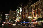 Gaslamp district in evening