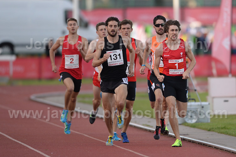 International athletics at Cardiff International stadium, Cardiff, South Wales - Tuesday 15th July 2014<br /> <br /> The Men's 800m final race<br /> <br /> <br /> <br /> <br /> Photo by Jeff Thomas Photography