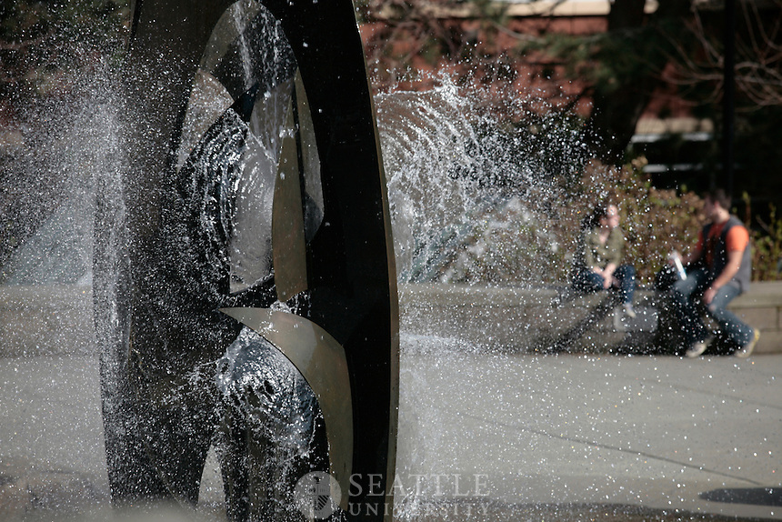 03082011 - Seattle University, campus scenes, feature photos, urban oasis
