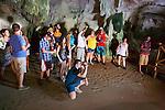 Tourists Viewing Stalactites, Parque Nacional Los Haitises