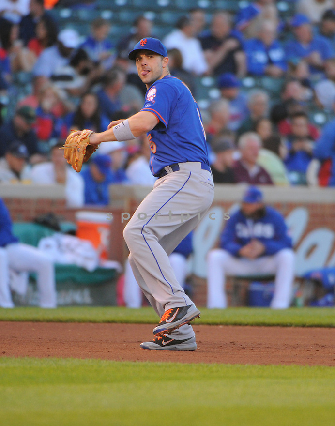 New York Mets David Wright (5) during a game against the Chicago Cubs on June 5, 2014 at Wrigley Field in Chicago, IL. The Cubs beat the Mets 7-4.