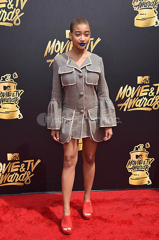 LOS ANGELES, CA - MAY 7: Amandla Stenberg at the 2017 MTV Movie and TV Awards at The Shrine Auditorium in Los Angeles, California on May 7, 2017. Credit: David Edwards/MediaPunch