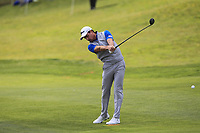Brett Rumford (AUS) on the 1st fairway during Round 3 of the Open de Espana 2018 at Centro Nacional de Golf on Saturday 14th April 2018.<br /> Picture:  Thos Caffrey / www.golffile.ie<br /> <br /> All photo usage must carry mandatory copyright credit (&copy; Golffile | Thos Caffrey)