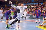 VELUX EHF 2017/18 EHF Men's Champions League Last 16.<br /> FC Barcelona Lassa vs Montpellier HB: 30-28.<br /> Ludovic Fabregas.