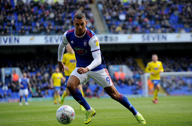 Ipswich Town's Kayden Jackson<br /> <br /> Photographer Hannah Fountain/CameraSport<br /> <br /> The EFL Sky Bet Championship - Ipswich Town v Birmingham City - Saturday 13th April 2019 - Portman Road - Ipswich<br /> <br /> World Copyright © 2019 CameraSport. All rights reserved. 43 Linden Ave. Countesthorpe. Leicester. England. LE8 5PG - Tel: +44 (0) 116 277 4147 - admin@camerasport.com - www.camerasport.com