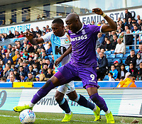 Blackburn Rovers' Amari'i Bell vies for possession with Stoke City's Benik Afobe<br /> <br /> Photographer Alex Dodd/CameraSport<br /> <br /> The EFL Sky Bet Championship - Blackburn Rovers v Stoke City - Saturday 6th April 2019 - Ewood Park - Blackburn<br /> <br /> World Copyright © 2019 CameraSport. All rights reserved. 43 Linden Ave. Countesthorpe. Leicester. England. LE8 5PG - Tel: +44 (0) 116 277 4147 - admin@camerasport.com - www.camerasport.com