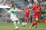 VfL Wolfsburg's Vanessa Bernauer (l) and Olympique Lyonnais' Camile Abily during UEFA Women's Champions League 2015/2016 Final match.May 26,2016. (ALTERPHOTOS/Acero)