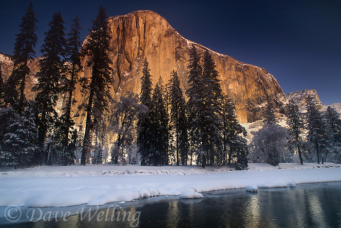 762609310 winter dawn lights up the face of el capitan the granite monolith in yosemite national park california