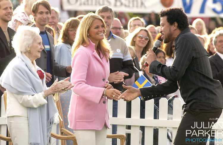 Princess Madeleine & Princess Lillian celebrate Crown Princess Victoria of Sweden's 27th birthday with a Lionel Richie concert in Borgholm..