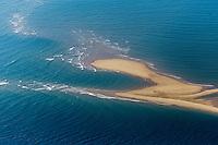 France, Gironde (33),Bassin d'Arcachon, Le banc d'Arguin ,  réserve naturelle - vue aérienne //  France, Gironde, Bassin d'Arcachon, The Banc d'Arguin, Arguin bank,- aerial view