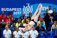 Picture by Rogan Thomson/SWpix.com - 14/07/2017 - Diving - Fina World Championships 2017 -  Duna Arena, Budapest, Hungary - James Heatly of Great Britain in action in the mens 1m Springboard Preliminary.