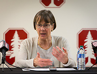 Stanford, CA - November 24, 2019: Tara Vanderveer at Maples Pavilion. The Stanford Cardinal defeated the Buffalo Bulls 88-69.