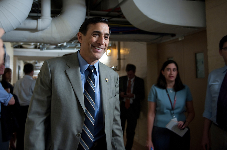 UNITED STATES - JULY 27: Darrell Issa, R-CA., walks to the meeting of the House Republican Caucus in the U. S Capitol.  (Photo By Douglas Graham/Roll Call)