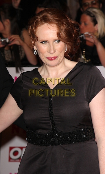 CATHERINE TATE.The National Television Awards held at the Royal Albert Hall, London, England. .October 29th, 2008 .NTA red carpet arrivals half length black dress .CAP/ROS.©Steve Ross/Capital Pictures.