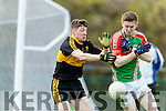 Kieran O'Leary Dr Crokes in Action against John Meagher Loughmore-Castleiney in the Munster Senior Club Semi-Final at Crokes Ground, Lewis Road on Sunday