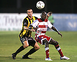 7 August 2007: Charleston's Anthony Catalano (20) and FC Dallas's Dominic Oduro (25) battle for position to play the ball. FC Dallas of Major League Soccer defeated the Charleston Battery of the United Soccer League first division 2-1 after extra time in a quarterfinal match of the 2007 US Open Cup tournament at Blackbaud Stadium in Charleston, SC...