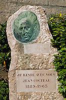 Gravestone of Jean Cocteau, Menton, France