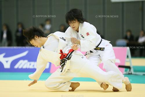 (L to R) <br /> Hiromi Endo, <br /> Yurie Morisaki, <br /> NOVEMBER 10, 2013 - Judo : <br /> Kodokan Cup 2013 <br /> Women's -48kg <br /> at Chiba Port Arena, Chiba, Japan. <br /> (Photo by YUTAKA/AFLO SPORT)