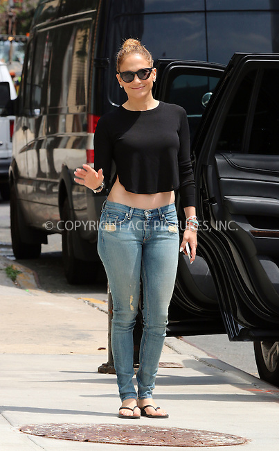 ACEPIXS.COM<br /> <br /> June 30 2014, New York City<br /> <br /> Singer Jennifer Lopez leaves her downtown apartment on June 30 2014 in New York City<br /> <br /> <br /> By Line: Zelig Shaul/ACE Pictures<br /> <br /> ACE Pictures, Inc.<br /> www.acepixs.com<br /> Email: info@acepixs.com<br /> Tel: 646 769 0430