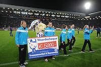 VOETBAL: HEERENVEEN: Abe Lenstra Stadion, 15-09-2012, Geld inzamelingsactie damesvoetbalteam SC Heerenveen, ©foto Martin de Jong