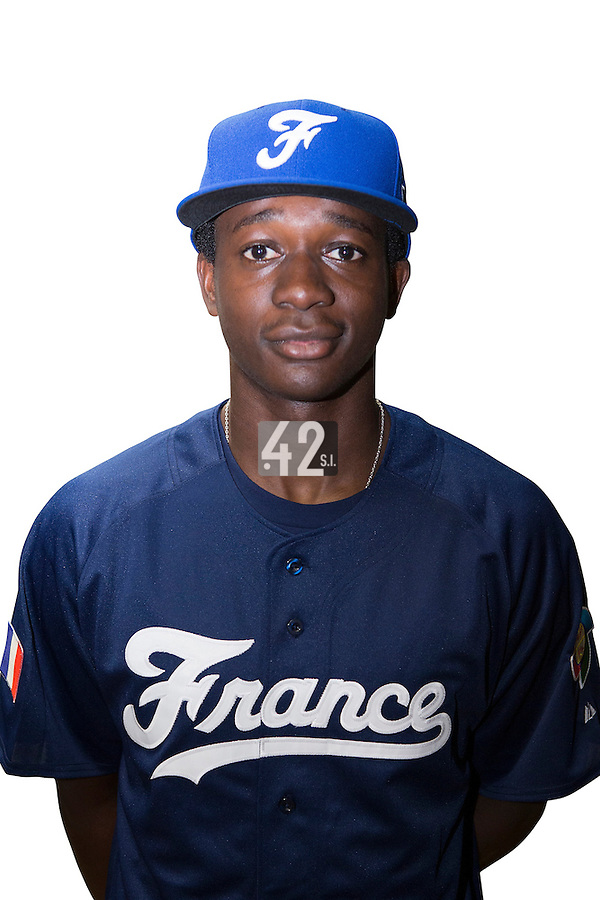 18 September 2012: Frederic Hanvi poses prior to Team France practice, at the 2012 World Baseball Classic Qualifier round, in Jupiter, Florida, USA.