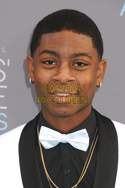 17 January 2016 - Santa Monica, California - RJ Cyler. 21st Annual Critics' Choice Awards - Arrivals held at Barker Hangar. <br /> CAP/ADM/BP<br /> &copy;BP/ADM/Capital Pictures