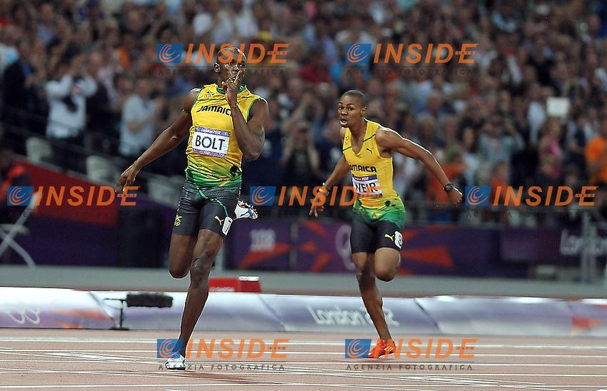 USAIN BOLT (JAM).200 metri piani.London 09/08/2012.Olympic Games London 2012.Olimpiadi Londra 2012.Foto Giovanni Minozzi / Insidefoto