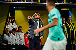 05.11.2019, Signal Iduna Park, Dortmund , GER, Champions League, Gruppenphase, Borussia Dortmund vs Inter Mailand, UEFA REGULATIONS PROHIBIT ANY USE OF PHOTOGRAPHS AS IMAGE SEQUENCES AND/OR QUASI-VIDEO<br /> <br /> im Bild | picture shows:<br /> Antonio Conte (Trainer | Coach Inter Mailand) aufgebracht, <br /> <br /> Foto © nordphoto / Rauch