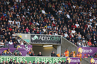 The eteach stand with adverts from AlphaSafety and Peters Pies during the Premier League match between Swansea City and Huddersfield Town at The Liberty Stadium, Swansea, Wales, UK. Saturday 16 October 2017