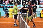 Japanese Kei Nishikori and australian Nick Kyrgios during Mutua Madrid Open Tennis 2016 in Madrid,  May 06, 2016. (ALTERPHOTOS/BorjaB.Hojas)