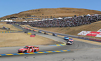 Jun. 21, 2009; Sonoma, CA, USA; NASCAR Sprint Cup Series driver Kasey Kahne (9) drives through turn four during the SaveMart 350 at Infineon Raceway. Mandatory Credit: Mark J. Rebilas-