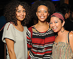 From left: Rachel Arellanes, Shara Johnson and Tina Zulu at the Steel Lounge Underground at the Contemporary Arts Museum  Friday July 30,2010.(Dave Rossman/For the Chronicle)