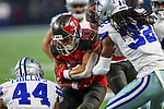 Tampa Bay Buccaneers wide receiver Spencer Schnell (83) in action during the pre-season game between the Tampa Bay Buccaneers and the Dallas Cowboys at the AT & T Stadium in Arlington, Texas.