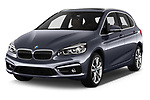 2017 BMW 2-Series-Active-Tourer Luxury 5 Door Mini MPV Angular Front stock photos of front three quarter view