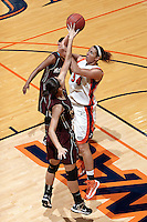SAN ANTONIO, TX - NOVEMBER 3, 2012: The McMurry University War Hawks vs. the University of Texas at San Antonio Roadrunners Women's Basketball at the UTSA Convocation Center. (Photo by Jeff Huehn)