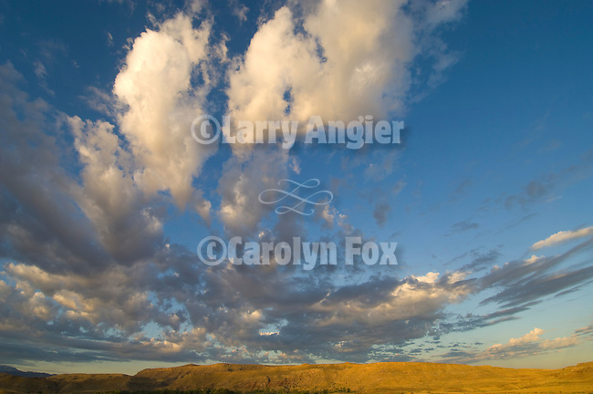 Fish Ford on the Colorado River; clouds at sunrise, Cisco, Utah