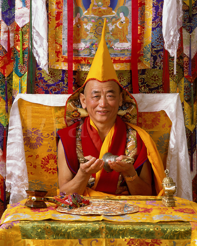 GESHE LOBSANG GYATSO is a high lama of the GELUKPA order of Tibetan Buddhism - MODEL RELEASED