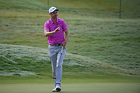 Ross Fisher (ENG) after sinking his birdie putt on 1 during round 4 of The Players Championship, TPC Sawgrass, at Ponte Vedra, Florida, USA. 5/13/2018.<br /> Picture: Golffile | Ken Murray<br /> <br /> <br /> All photo usage must carry mandatory copyright credit (&copy; Golffile | Ken Murray)