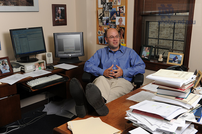 Law School professor Rick Garnett in his office