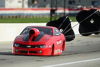 Aug. 31, 2012; Claremont, IN, USA: NHRA pro stock driver Richard Freemanduring qualifying for the US Nationals at Lucas Oil Raceway. Mandatory Credit: Mark J. Rebilas-